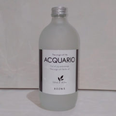 アクアーリオ 530ml ¥3500 税別 ビーワンシリーズの命とも言える原水をボトリングしました。家庭の薬剤に加えるなど、頭皮以外のあらゆる目的に応用することができます。そのままお顔に化粧水として、全身の水分補給として、目薬のかわりにも・・・